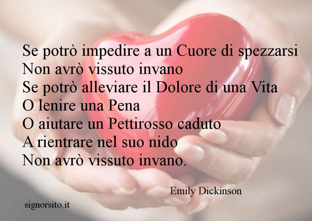 cuore in mano poesia