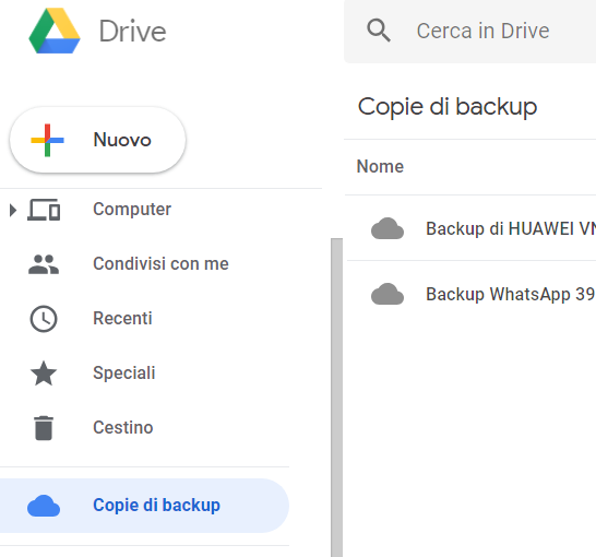copie backup google drive